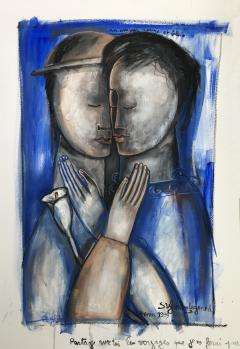 Sylvain Legrand Un Amour Rouge et Bleu - 1780360