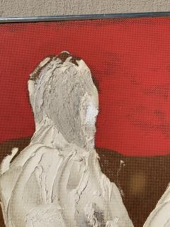Sylvia Rutkoff 1950s Three Kings Oil Impasto Figurative Painting NYC Brooklyn Museum Artist - 1919264