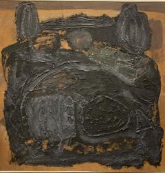 Sylvia Rutkoff 1960s Art Brut Abstract Impasto Painting Vietnam Mid Century NYC - 1920154