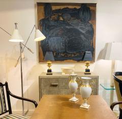 Sylvia Rutkoff 1960s Art Brut Abstract Impasto Painting Vietnam Mid Century NYC - 1920162