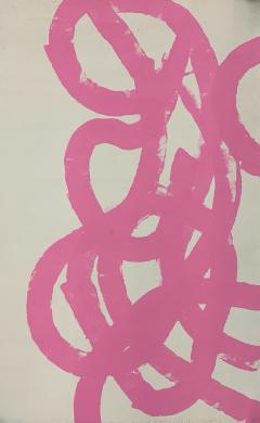 Sylvia Rutkoff 1960s Pink Abstract Abstract Painting NYC Brooklyn Museum Artist - 1920107
