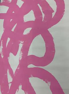Sylvia Rutkoff 1960s Pink Abstract Abstract Painting NYC Brooklyn Museum Artist - 1920111