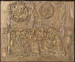 Sylvia Rutkoff Mid Century Bronze Wall Brutalist Painting Brooklyn Museum Artist - 1920183