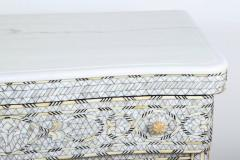 Syrian White Mother of Pearl Inlay Wedding Dresser - 357430