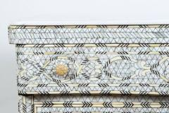 Syrian White Mother of Pearl Inlay Wedding Dresser - 357431