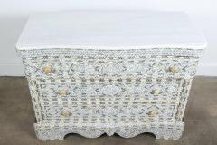 Syrian White Mother of Pearl Inlay Wedding Dresser - 357432