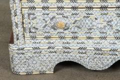 Syrian White Mother of Pearl Inlay Wedding Dresser - 357434