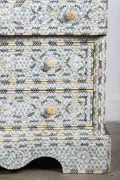 Syrian White Mother of Pearl Inlay Wedding Dresser - 357435