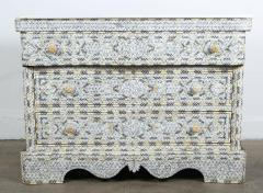 Syrian White Mother of Pearl Inlay Wedding Dresser - 357436