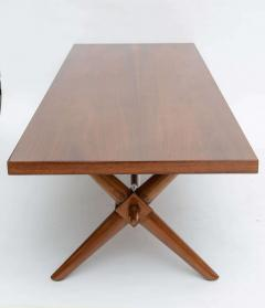 T H Robsjohn Gibbings American Modern Walnut Low Table Robsjohn Gibbings - 348703