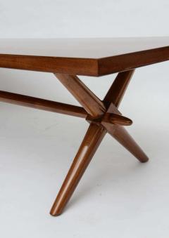 T H Robsjohn Gibbings American Modern Walnut Low Table Robsjohn Gibbings - 348706