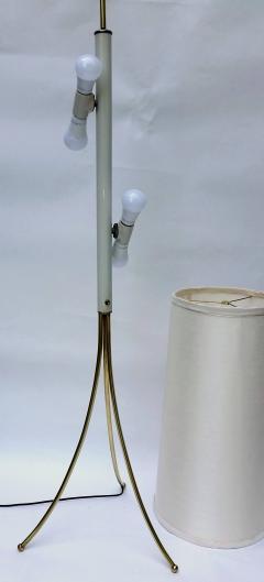 T H Robsjohn Gibbings Brass Tripod Floor Lamp in the Style of Robsjohn Gibbings 1950 - 572628