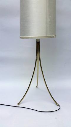 T H Robsjohn Gibbings Brass Tripod Floor Lamp in the Style of Robsjohn Gibbings 1950 - 572630