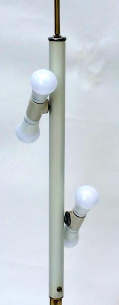T H Robsjohn Gibbings Brass Tripod Floor Lamp in the Style of Robsjohn Gibbings 1950 - 572632