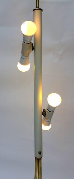 T H Robsjohn Gibbings Brass Tripod Floor Lamp in the Style of Robsjohn Gibbings 1950 - 572634