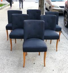 T H Robsjohn Gibbings Custom Set of Six Dining Chairs by Robsjohn Gibbings - 1533927