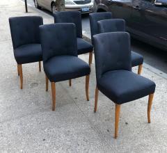 T H Robsjohn Gibbings Custom Set of Six Dining Chairs by Robsjohn Gibbings - 1533929