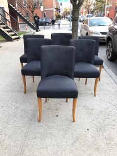 T H Robsjohn Gibbings Custom Set of Six Dining Chairs by Robsjohn Gibbings - 1533931