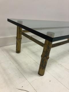 T H Robsjohn Gibbings Custom T H Robsjohn Gibbings Brass Coffee Table for Kandell Residence - 1878824