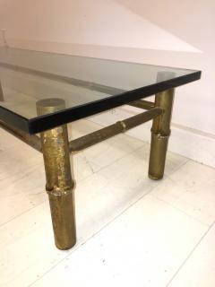 T H Robsjohn Gibbings Custom T H Robsjohn Gibbings Brass Coffee Table for Kandell Residence - 1878825