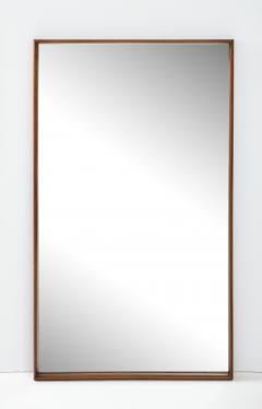 T H Robsjohn Gibbings Large Walnut Framed Robsjohn Gibbings for Widdicomb Mirror - 1928477
