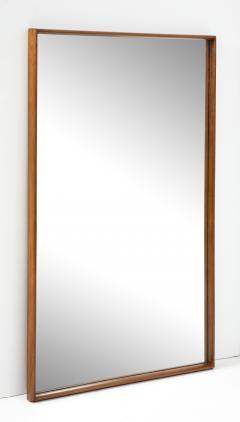 T H Robsjohn Gibbings Large Walnut Framed Robsjohn Gibbings for Widdicomb Mirror - 1928479
