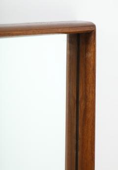 T H Robsjohn Gibbings Large Walnut Framed Robsjohn Gibbings for Widdicomb Mirror - 1928486