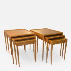 T H Robsjohn Gibbings PAIR Of Widdicomb Nesting Tables Mid Century Modern  By T H Robsjohn Gibbings