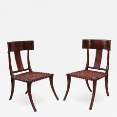 T H Robsjohn Gibbings Pair of Klismos Accent Side Chairs In The Manner of T H Robsjohn Gibbings - 2125770