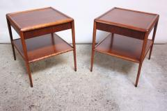T H Robsjohn Gibbings Pair of T H Robsjohn Gibbings Single Drawer End Tables - 374658