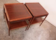 T H Robsjohn Gibbings Pair of T H Robsjohn Gibbings Single Drawer End Tables - 374659