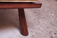 T H Robsjohn Gibbings Pair of T H Robsjohn Gibbings Stained Walnut Barrel Back Lounge Chairs - 1207957