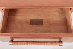 T H Robsjohn Gibbings Pair of T H Robsjohn Gibbings for Widdicomb Walnut and Brass Nightstands - 1572070