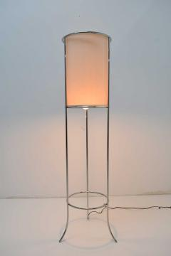T H Robsjohn Gibbings Pair of Tripod Nickel Floor Lamps by T H Robsjohn Gibbings for Hansen - 1124869