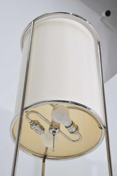 T H Robsjohn Gibbings Pair of Tripod Nickel Floor Lamps by T H Robsjohn Gibbings for Hansen - 1124870