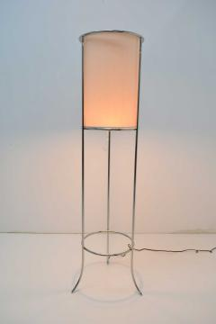 T H Robsjohn Gibbings Pair of Tripod Nickel Floor Lamps by T H Robsjohn Gibbings for Hansen - 1124872