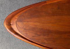 T H Robsjohn Gibbings Rare and Unusual Surfboard Walnut Coffee Table by T H Robsjohn Gibbings - 342948