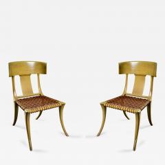 T H Robsjohn Gibbings Robsjohn Gibbings Pair of Klismos Chairs - 445637
