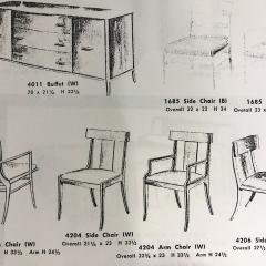 T H Robsjohn Gibbings Set of Eight T H Robsjohn Gibbings dining chairs for Widdicomb - 1716923