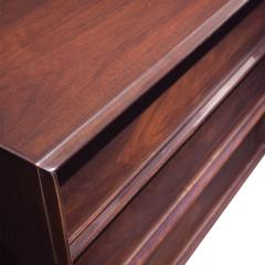 T H Robsjohn Gibbings T H Robsjohn Gibbings Chest of Drawers in Dark Walnut 1950s Signed  - 1674943
