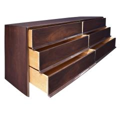 T H Robsjohn Gibbings T H Robsjohn Gibbings Chest of Drawers in Dark Walnut 1950s Signed  - 1674947