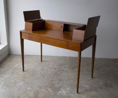 T H Robsjohn Gibbings T H Robsjohn Gibbings Desk for Widdicomb in Mahogany with Sabre Legs 1950s - 1910052