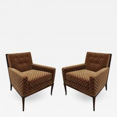 T H Robsjohn Gibbings T H Robsjohn Gibbings Elegant Pair of Club Chairs 1950s - 1237609