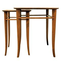 T H Robsjohn Gibbings T H Robsjohn Gibbings Pair of Nesting Tables 1950s - 331513