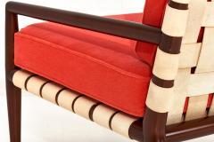 T H Robsjohn Gibbings T H Robsjohn Gibbings Widdicomb Strap Lounge Chair - 1793694