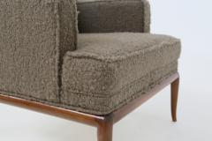 T H Robsjohn Gibbings T H Robsjohn Gibbings pair of midcentury armchairs in boucl fabric brown 1950 - 1535065