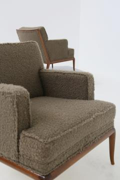 T H Robsjohn Gibbings T H Robsjohn Gibbings pair of midcentury armchairs in boucl fabric brown 1950 - 1535068