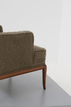 T H Robsjohn Gibbings T H Robsjohn Gibbings pair of midcentury armchairs in boucl fabric brown 1950 - 1535069