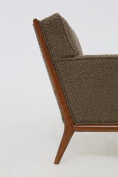 T H Robsjohn Gibbings T H Robsjohn Gibbings pair of midcentury armchairs in boucl fabric brown 1950 - 1535071