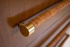 T H Robsjohn Gibbings TH Robsjohn Gibbings Chest of Drawers in Walnut with Cane Handles - 1816790
